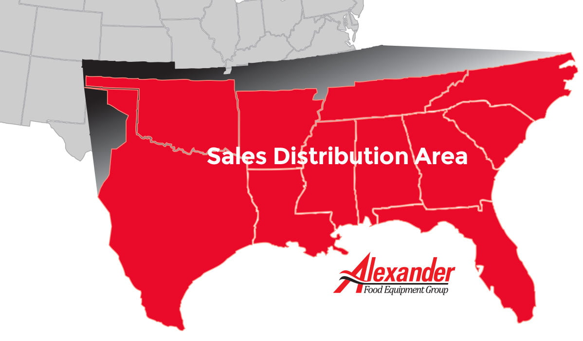 Alexander Food Equipment Group Sales Distribution Area